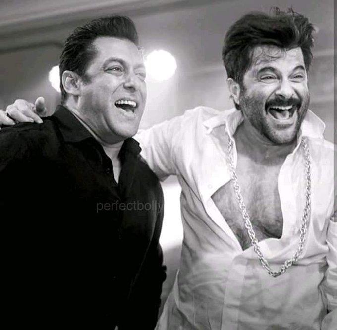 Happy birthday Anil Kapoor   Best wishes from Salman khan team.