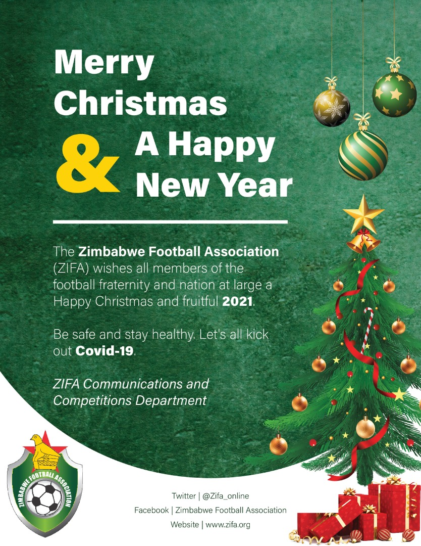Football, Christmas Day, 2021 Zimbabwe Football Association On Twitter Merry Xmas And Happy 2021 To All