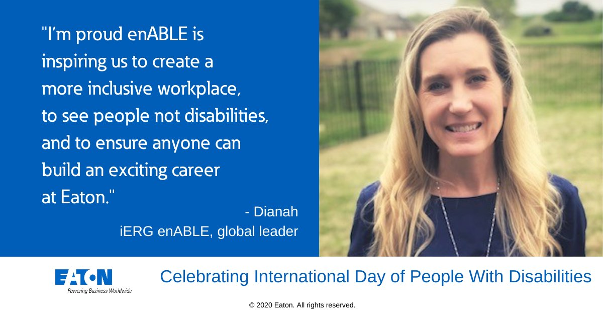 Congratulations to enABLE for a brilliant event with @DisabilityIN showing how we can all help build a more inclusive workplace.  #IDPWD2020 #LifeAtEaton