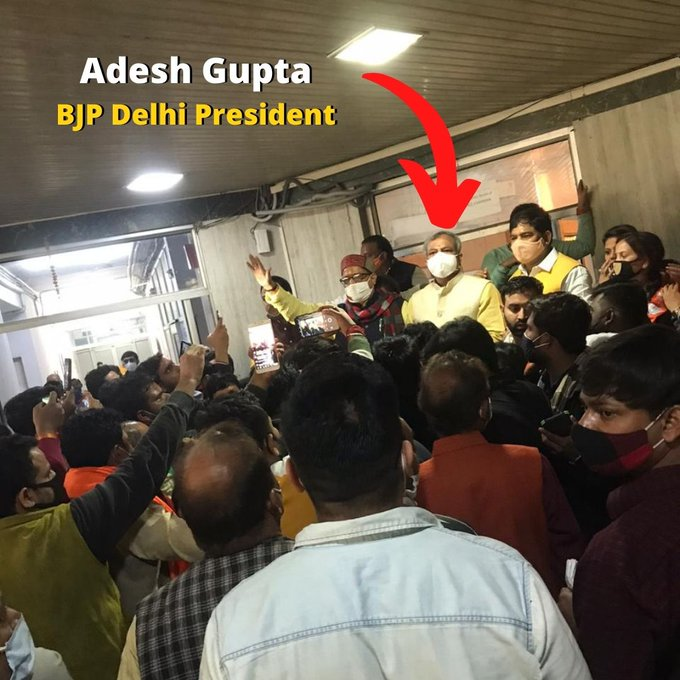 Delhi Jal Board Vice-Chairman Raghav Chaddha's office was allegedly attacked and vandalised by BJP workers for supporting farmers' protest.