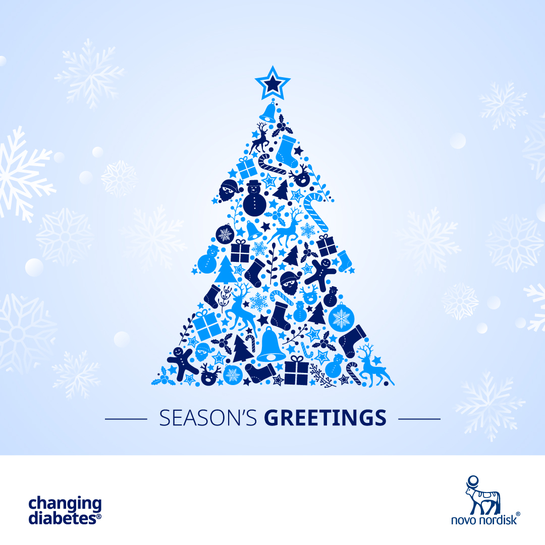 Novo Nordisk India wishes you a warm and healthy Christmas. #ChangingDiabetes #MerryChristmas