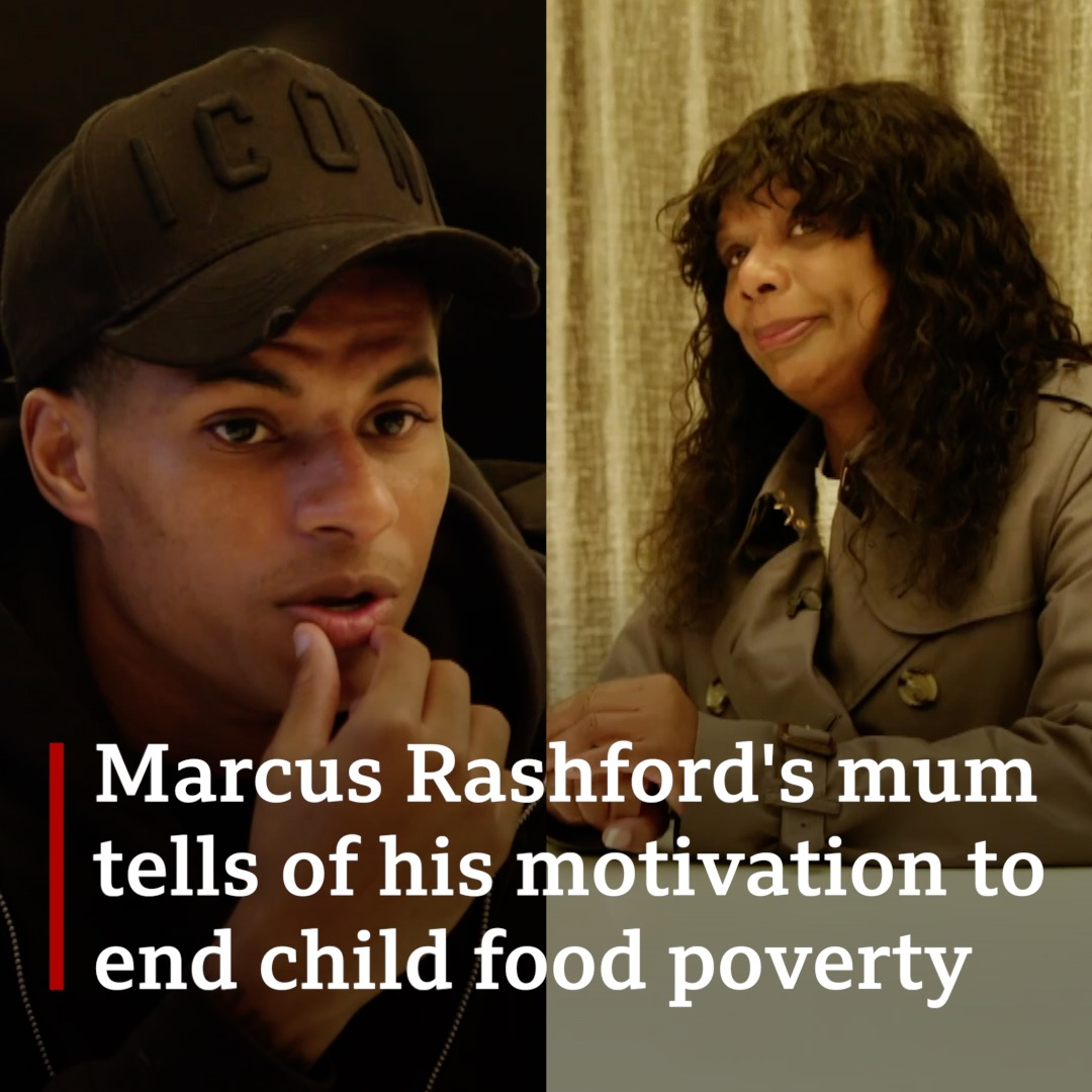 """Sometimes we didn't even have a loaf of bread in the house""  For the first time @MarcusRashford's mum Mel tells #BBCBreakfast about the family struggles that have driven the footballer's campaign against child food poverty."