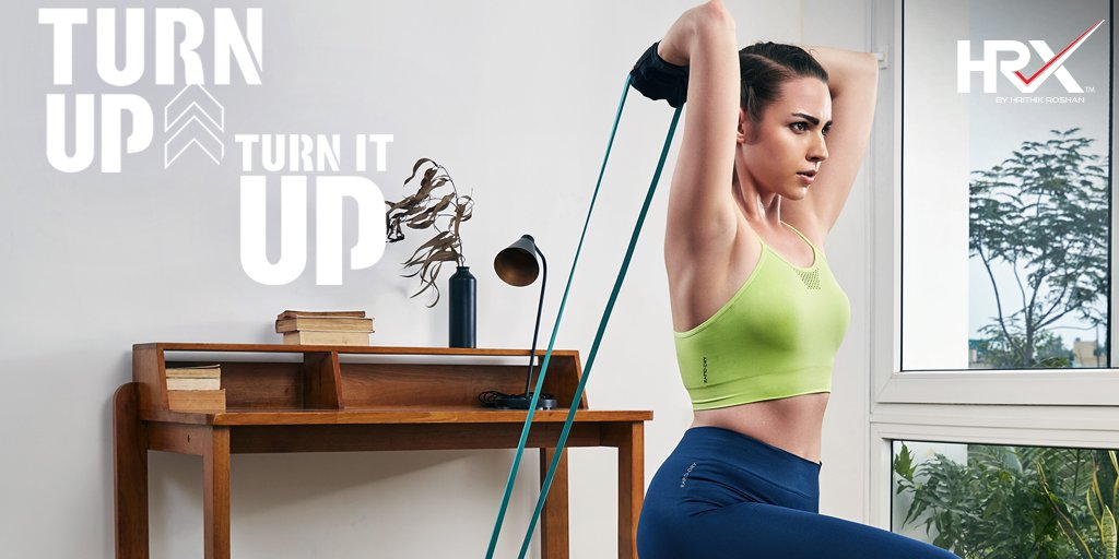 In this year unlike any other, how did you #TurnItUpWithHRX from home? Tell us in the comments 👇🏽 . Shop Now: Sports Bra -  Yoga Tights -  . . #KeepGoing