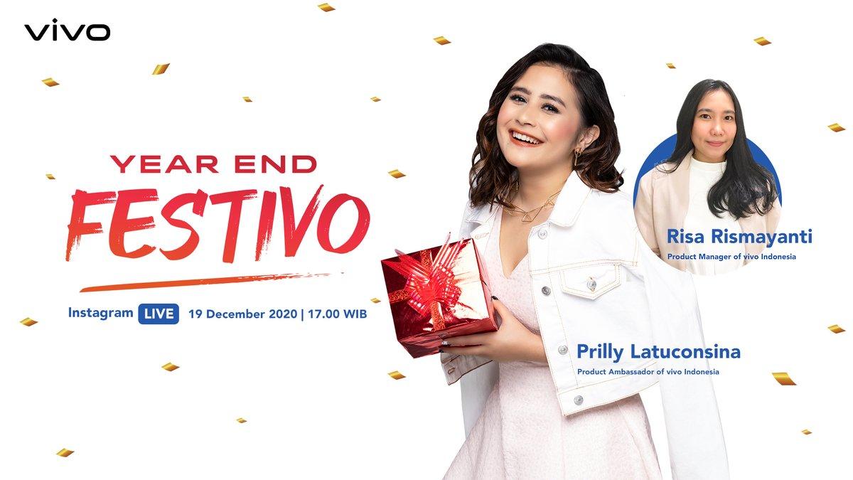 Yuk ikutan ngobrolin tahun baru bareng Prilly dan vivo Indonesia! Kamu bisa tanya seputar vivo smartphone favorit kamu dan dapatkan eksklusif promo di Year End Festivo. Jangan lupa stay tuned di Instagram Live @vivo_Indonesia hari Sabtu, 19 Desember, pukul 17.00WIB. #2021Pakevivo