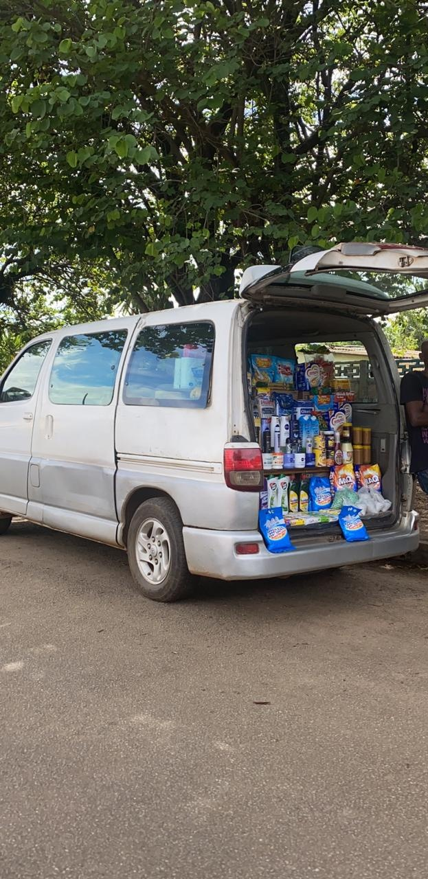 using van as a shop