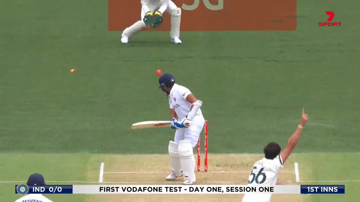 """""""If he does have a chink in his armour it's the ball which does come back into him...  """"Quite often leaves a big gap between bat and pad and that's where the Aussies will target.""""   @RickyPonting at his peerless best for the Prithvi Shaw wicket #AUSvIND https://t.co/4nh67zBcpU"""