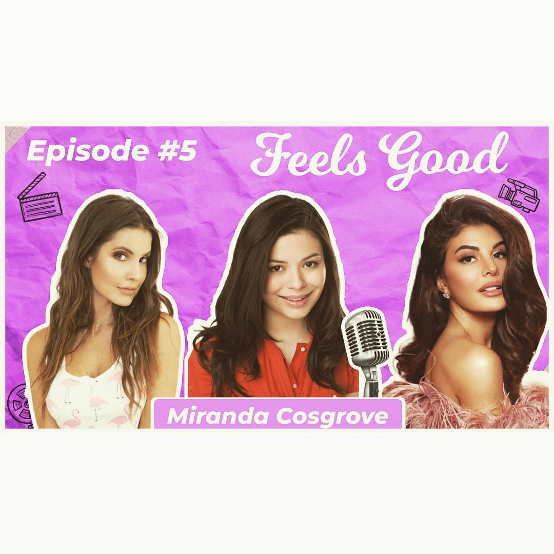 Such a lovely special guest!! @MirandaCosgrove on the #feelsgoodpod with my @AmandaCerny check it out! Link in bio! 🌈🌈