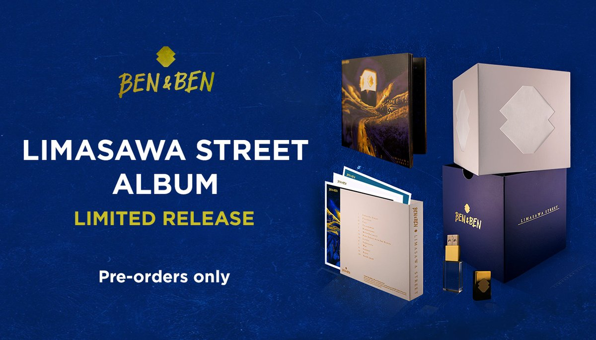 dahil birthday ni Pao, Migs at Poch (kahapon), Limasawa Street Album Limited Release Pre-order starts tomorrow!  Join the Ben&Ben House Facebook group to find out how you can order.  announcement will be posted tomorrow.
