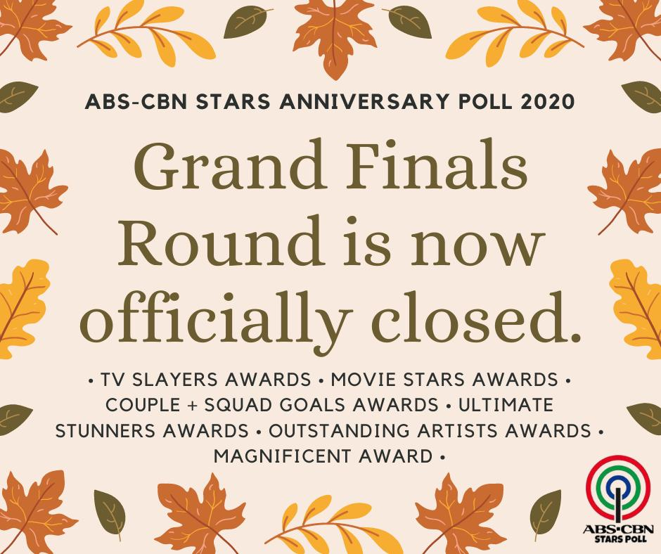 Who will bag the 15 awards among the 2020 grand finalists? The WINNERS will be announced SOON. Stay tuned! #AnneCurtis #KathNiel #LizQuen #KimXi #CocoYass #JoshLia #LoiNie #KyCine #SethDrea #KarJon #DonBelle #ViceIon #KaoriOinuma #AshTan #PatVoree  #ABSCBNStarsAnniversaryPoll2020