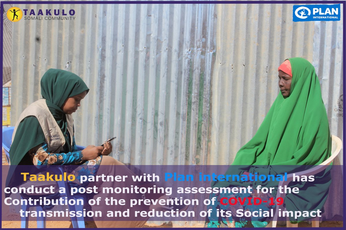 Taakulo partner with Plan international has conduct a post monitoring assessment for the Contribution of the prevention of COVID-19 transmission and reduction of its Social impact.@PlanUK @decappeal #PlanUK #Decappeal @PlanGlobal @PlanEU @PlanNederland