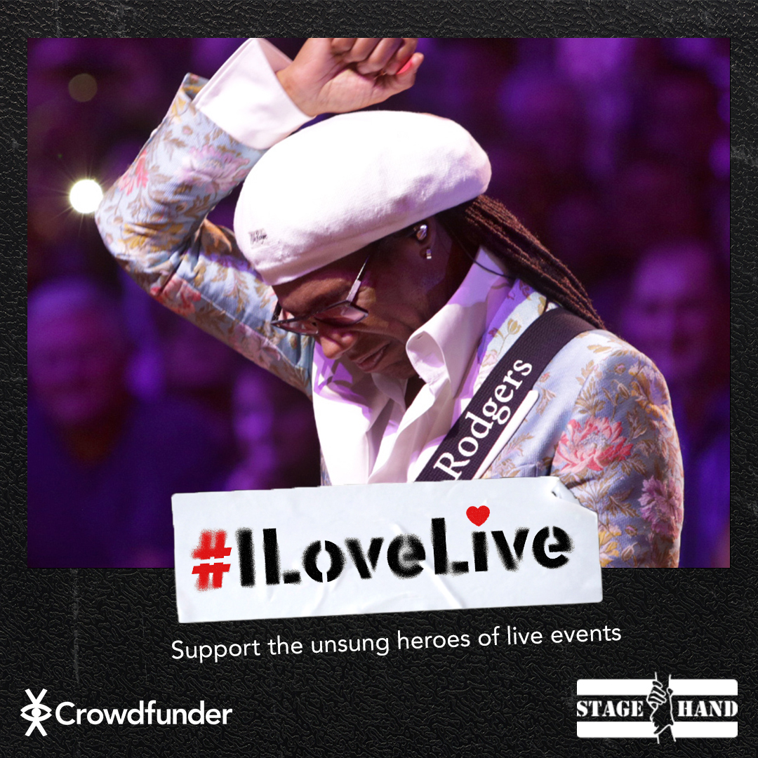The #ILoveLive campaign gives fans the chance to win money-can't-buy prizes from their favorite artists, while supporting the people that make our live shows happen!  Follow the link to support and for a chance to win one of my own guitars: