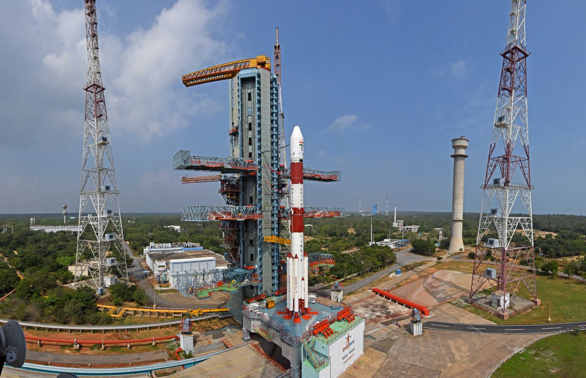 Less than an hour left for the launch of #PSLVC50/#CMS01 !!!  Watch the launch live at