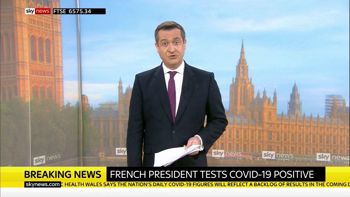 BREAKING: French President Emmanuel Macron has tested positive for #COVID19.   Latest on #coronavirus: