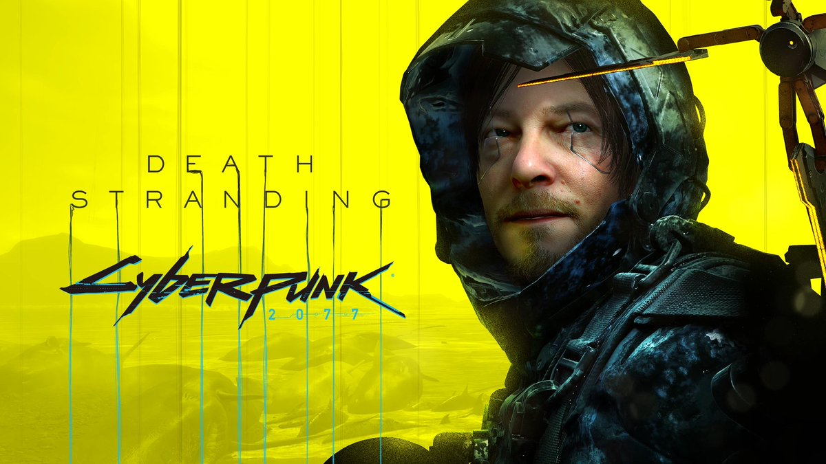 #DeathStrandingPC x #Cyberpunk2077 collaboration is now live! Download the new patch for Death Stranding on PC and enjoy Cyberpunk-themed items for Sam (and more)! https://t.co/0j6sbi78Pc