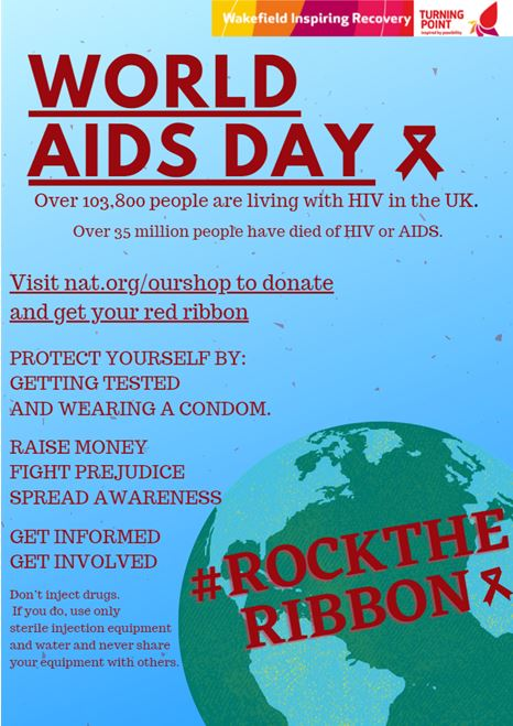 Here is a poster we made for World AIDS Day #rocktheribbon #worldaidsday2020
