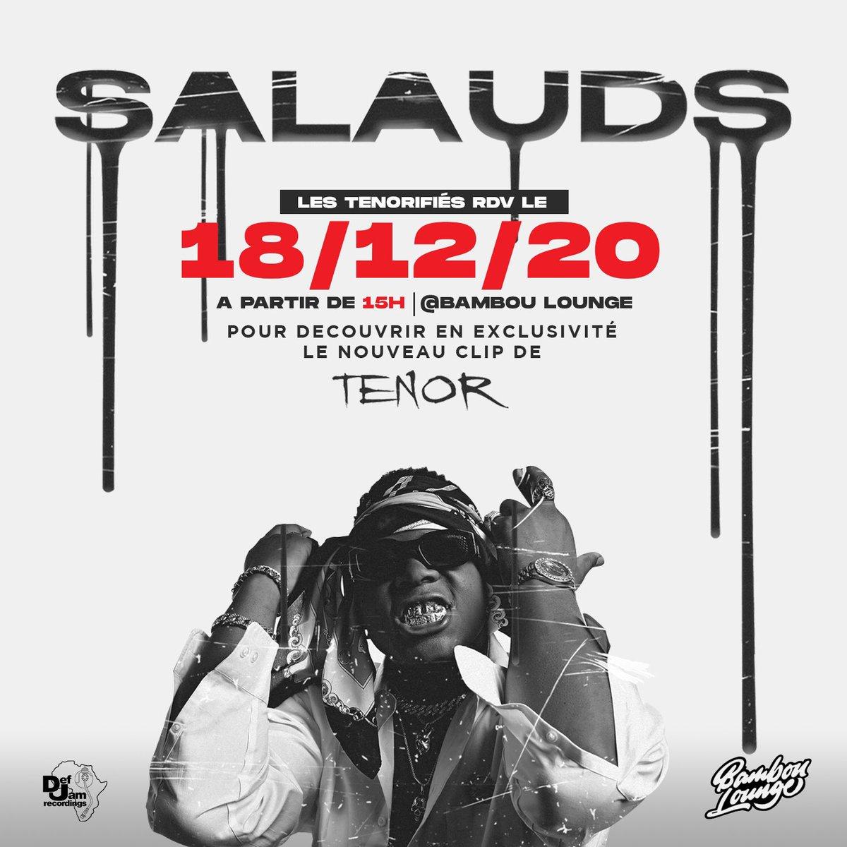 Demain au Bambou Lounge de Yaoundé :  - Avant-Première du nouveau clip de @TENOR_officiel «Salauds» - Pop Up Shop Exclusif Def Jam Africa (pour tous ceux qui ont demandé les pulls)  🕝 À partir de 15h https://t.co/6lhadorlic
