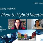 Image for the Tweet beginning: 💻 The Meetings Industry webinar