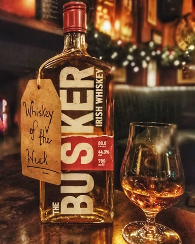 Our Whiskey of the Week is The Busker Irish Whiskey Single Malt. A gorgeous whiskey with sweet notes of vanilla and caramel, rounded off with soft woody notes. You can try this whiskey for only €5 this week!
