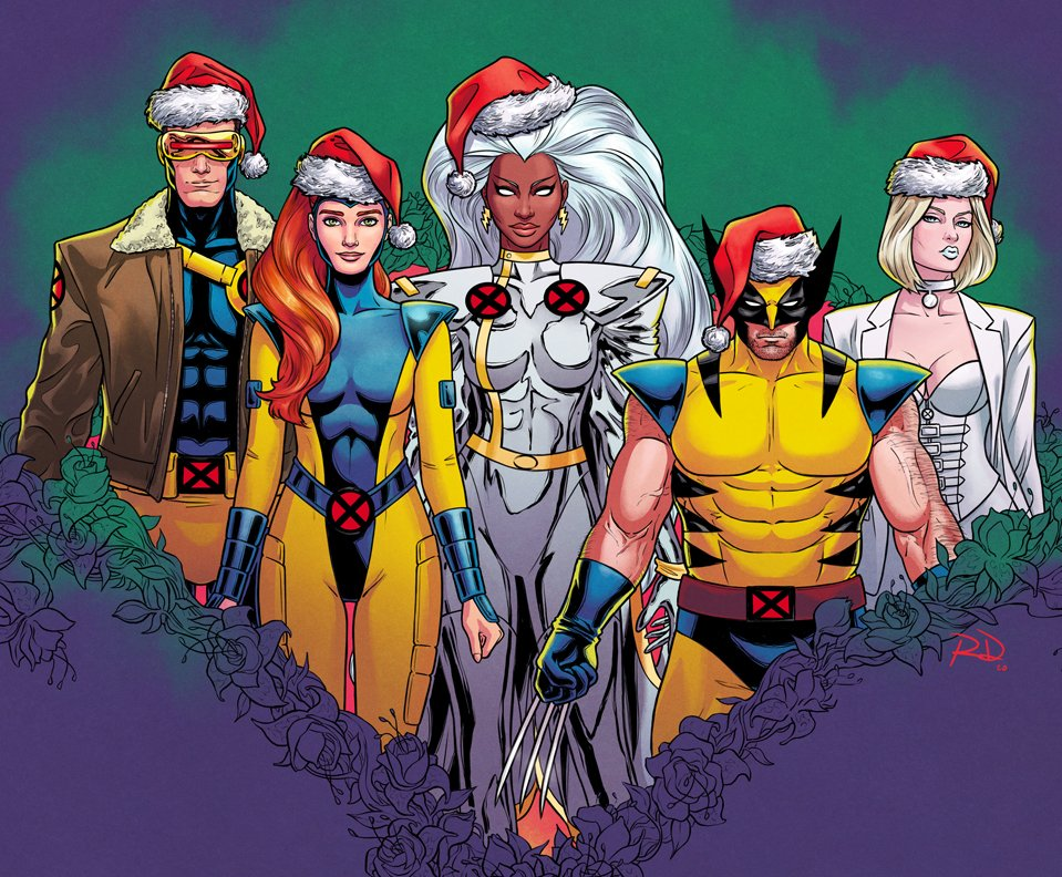 GIANT-SIZE X-MEN but 90s but Christmas ✨🎄