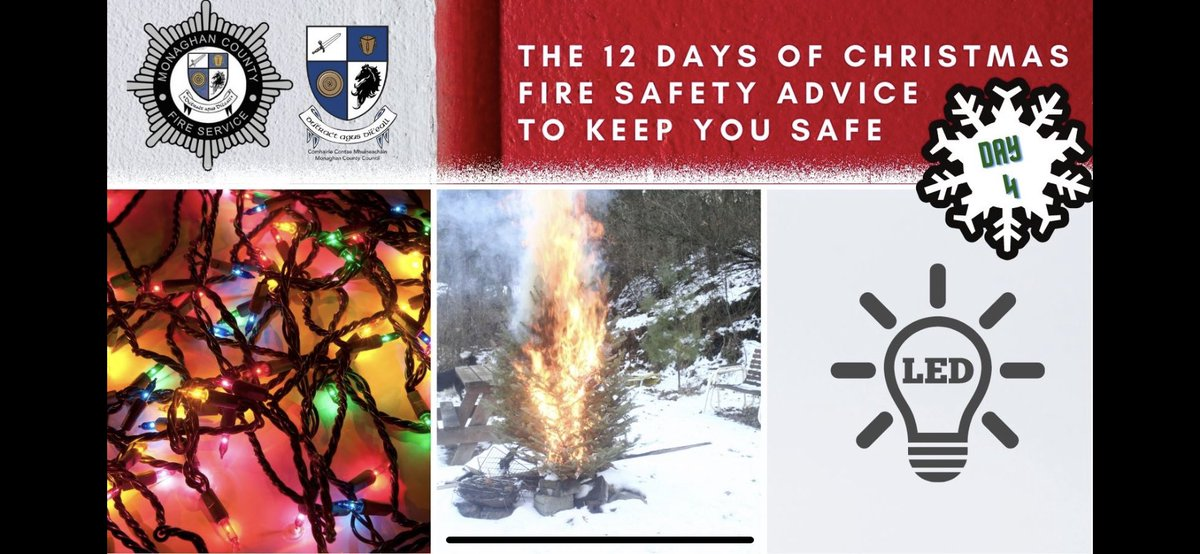 Monaghan Fire On Twitter 4th Day Of Christmas Decoration Fire Safety Are Your Old Christmas Lights Still Safe Poorly Stored Old Electrical Decorations Can Cause Unnecessary Hazards At This Time Of Year Led