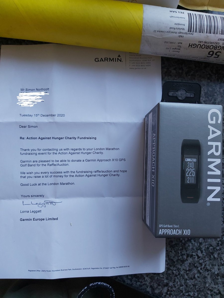 Amazing work!!  @GarminUK thank you so much for supporting me and @acfusa #actionagainsthunger #charityangel