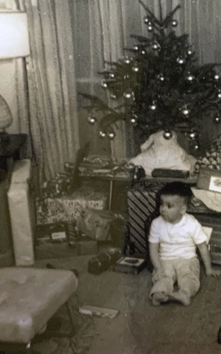 "Here's me, a little blue on Christmas Day, 1966. If the holidays are melancholy for you, read (and share) my ""How to Build a Life"" column today @TheAtlantic"