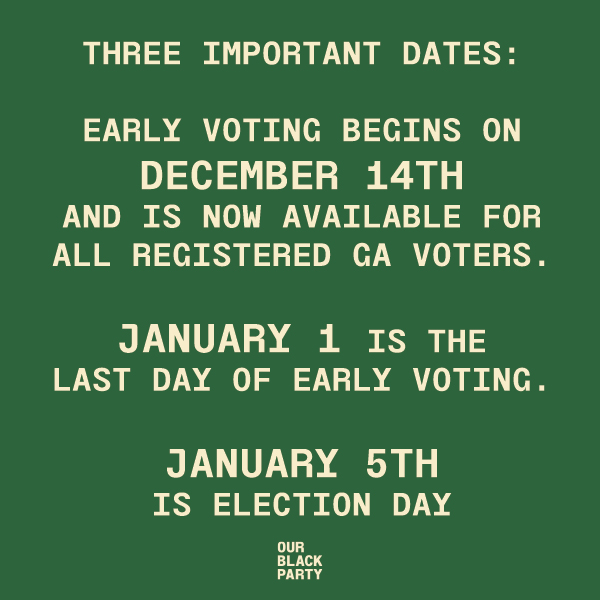 Georgia! Make sure that you are tapped in with these important dates for the Runoff Elections! #LetsDoItAgain #JobNotDone
