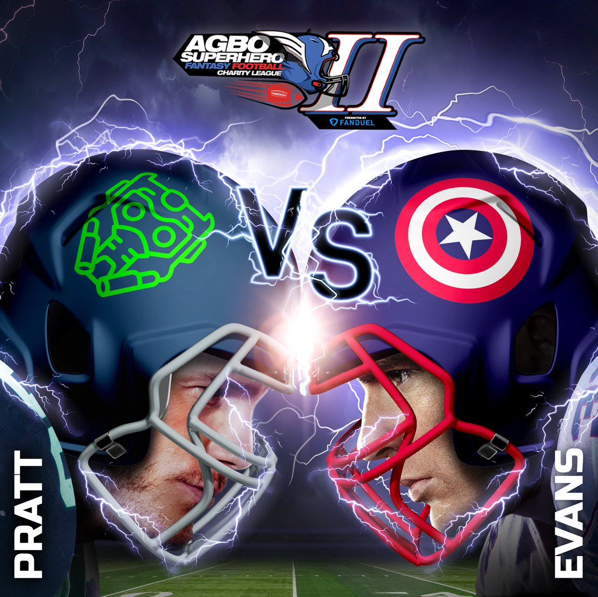 """This is the fight of our lives. We are going to win. Whatever it takes."" Damn right, Captain America!! Semifinals begin tonight.  Who ya got this round?!   #AGBOSuperheroLeague presented by @FanDuel"