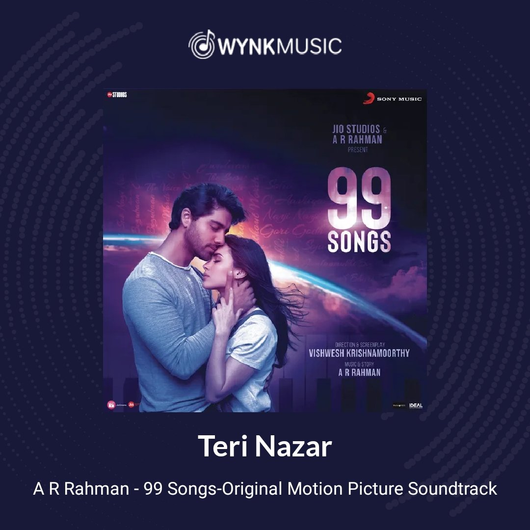This could be done by one and only musical maestro @arrahman #ShashwatSingh beautiful singing. #99Songs #Album #Music #Love  Listen to the song: Teri Nazar at  on Wynk Music  @ShareyaShams
