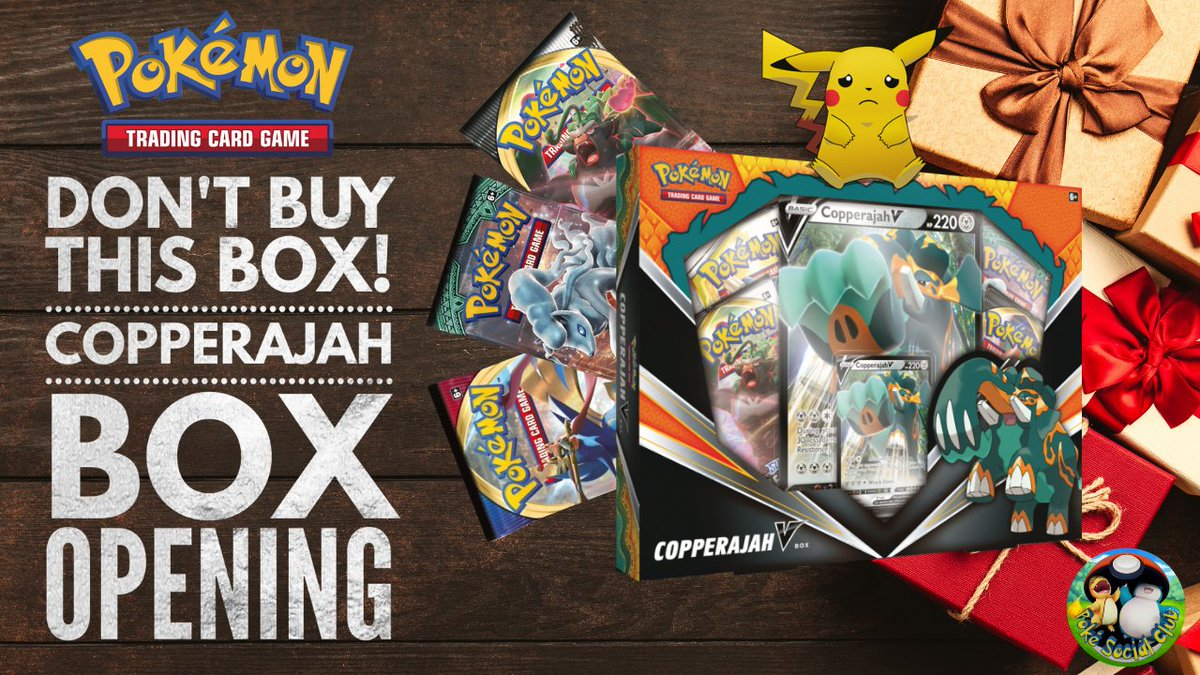 We opened a Copperajah V box on behalf of our friends at MD Pokemon (check them out!) but it wasn't very good! Find out why by checking out our new video!  #copperajah #pokemon #PokemonTCG #PokemonGOfriends #PokemonSwordShield #greencodes