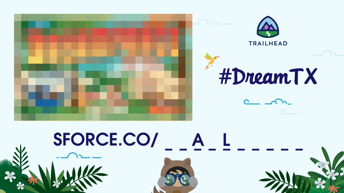 The first 2️⃣letters were just revealed!   Keep your eyes on #DreamTX to decode 🔎 the secret word and unlock your one-of-a-kind postcard.  Register to play:
