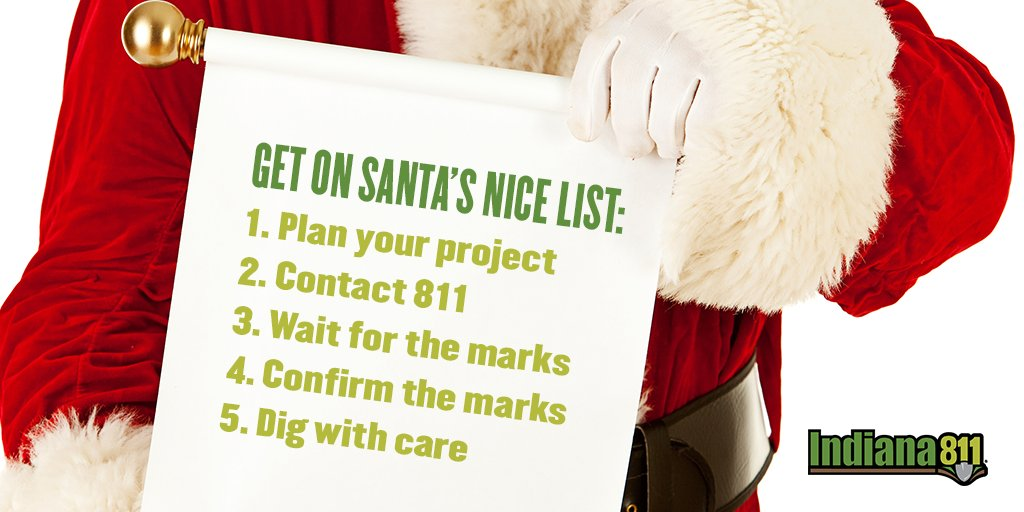 Indiana 811 On Twitter Wanna Get On Santa S Nice List It S Easy Always Follow The 5 Steps To Safe Digging 811beforeyoudig Miss indiana teen usa 2013, darrian arch, at the 2013 national kidney foundation's northwest indiana walk. twitter
