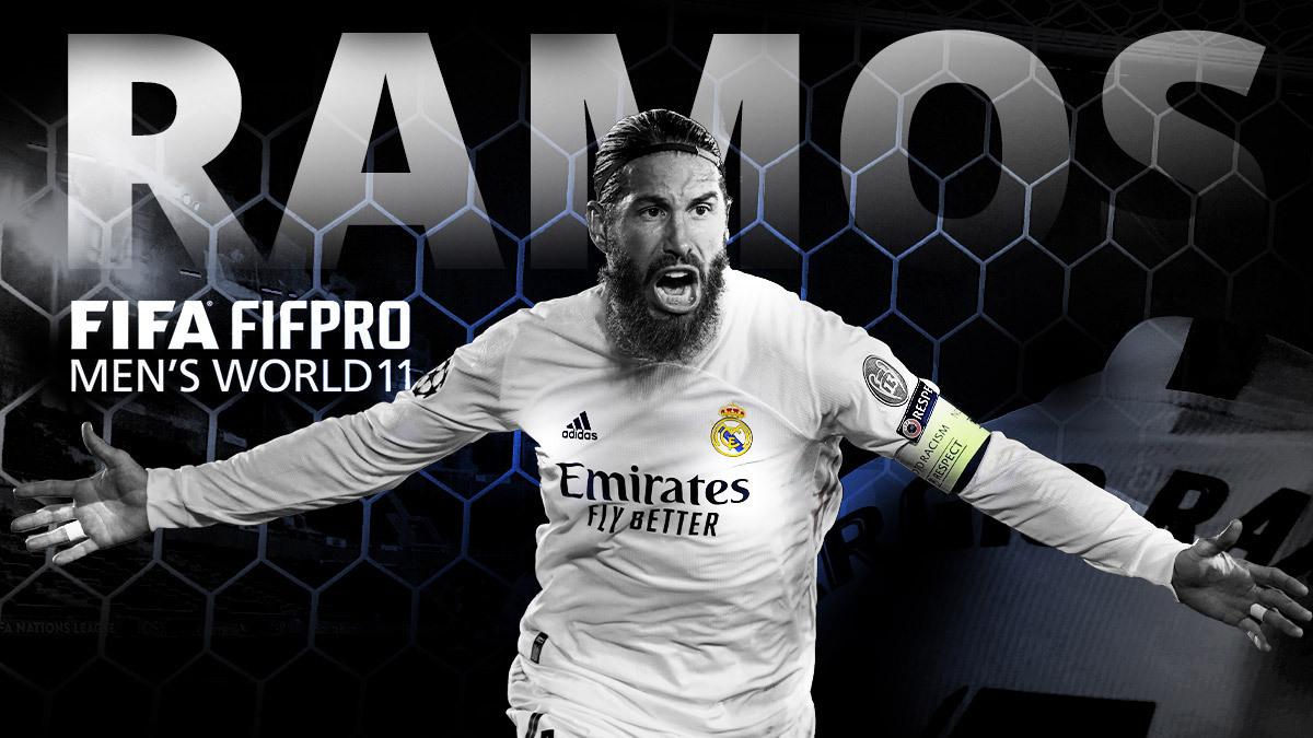👊⚽ ¡@SergioRamos, en el FIFA @FIFPro World11 de 2020! ©️👏¡ENHORABUENA CAPITÁN! #HalaMadrid | #World11