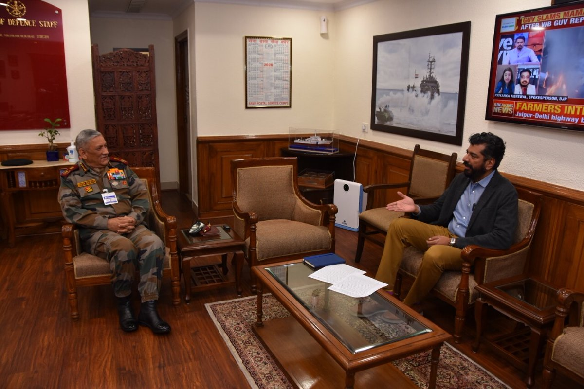Interviewed General Bipin Rawat recently on his first year as CDS. In the @IndiaToday magazine out tomorrow. Ladakh, China, theatre commands and a new proposal to prioritise acquisitions. And an extension of service for Cols, Brigs, Maj Gen and equivalent ranks.
