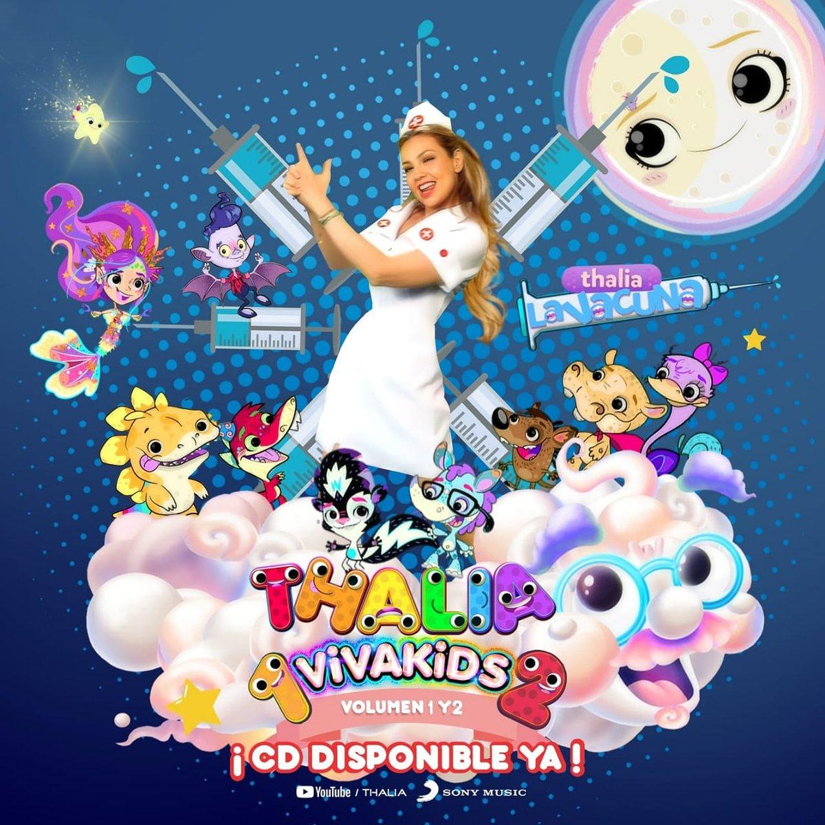 🎅 ¡ No te pierdas los mejores videos del más reciente disco a la venta de @thalia #VivaKids en su edición especial #VivaKids1y2 💋🤍🌡🚑 y disfruta #LaVacuna y muchos éxitos más especialmente para chicos y grandes ! 🤍❤🧡💛💚💙💜 ¡ El mejor regalo para esta navidad ya disponibl