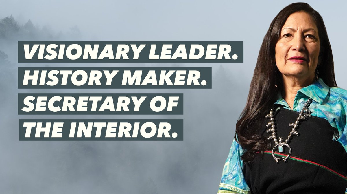 @DebHaalandNM MAKES HISTORY as the first Native American to be nominated to lead @Interior and serve in a cabinet position. This is an opportunity to change the relationship the US government has with Native peoples.