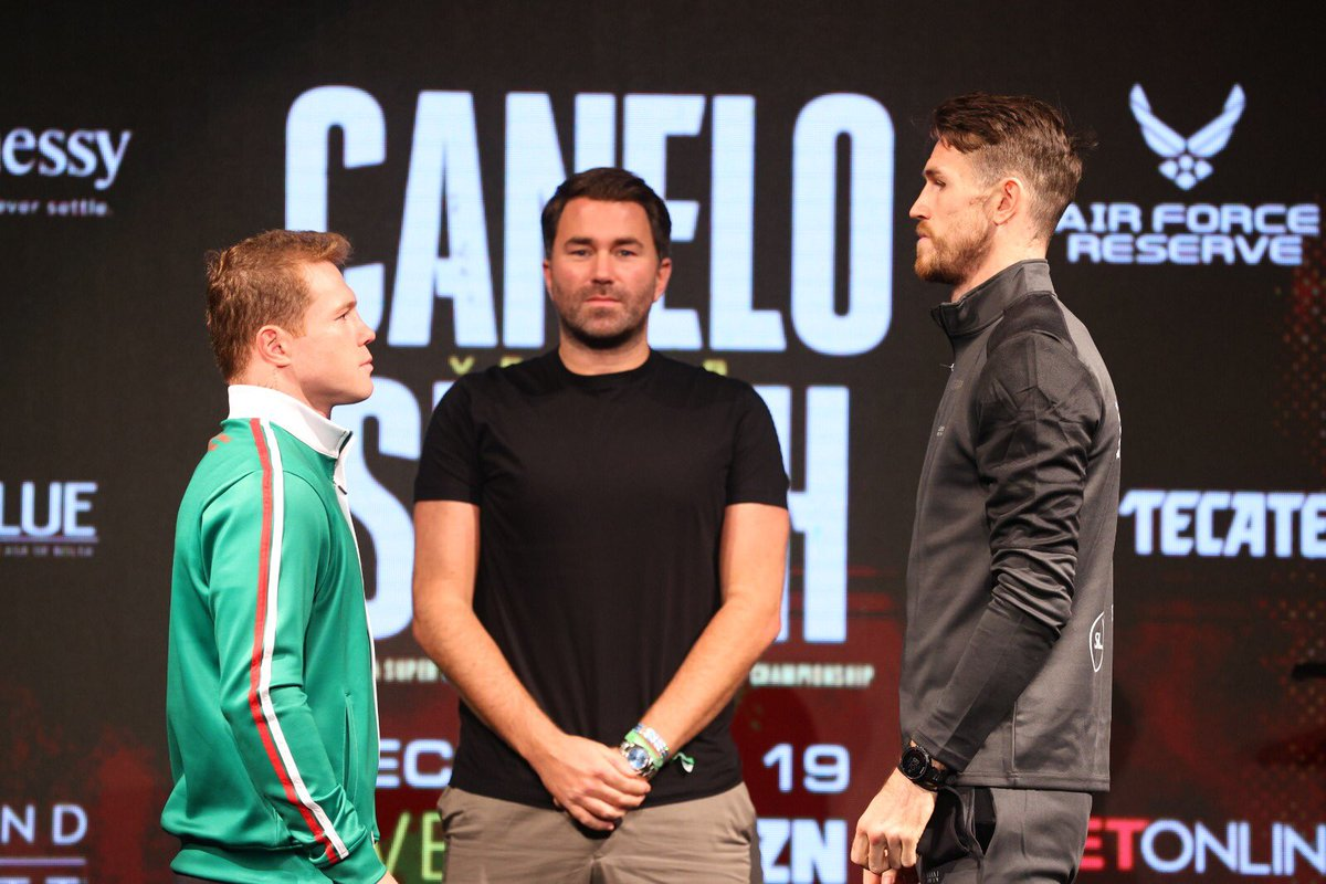 Presser done 👍🏻 @DAZNBoxing   2 days until I unify my division!   #CaneloSmith