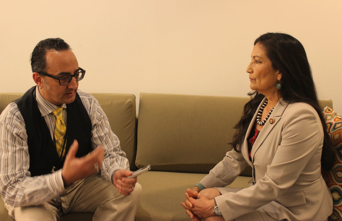 I was honored to interview @RepDebHaaland in D.C. Amazing to think I spoke with history.