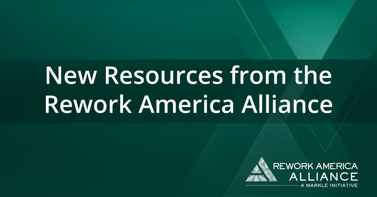 To achieve an inclusive recovery for unemployed and #LowWage, the @ReworkAmerica  Alliance has released the first of a new suite of resources to help unemployed job seekers move into better jobs. via @MarkleFdn  Take a look at the new resources here: