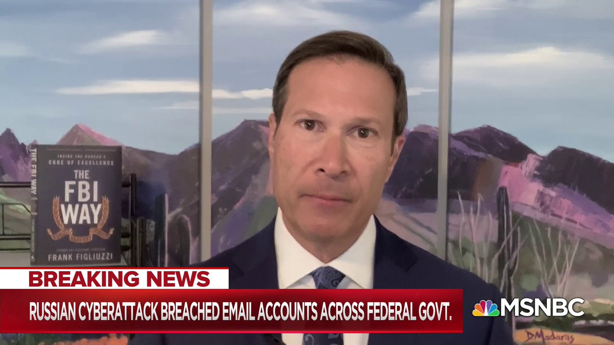 """""""Let's make no mistake, our nation is under attack right now and it appears to be ongoing by the way... The Russians were able to find a single point of failure in our supply chain... It is a national defense failure"""" - @FrankFigliuzzi1 w/ @NicolleDWallace"""