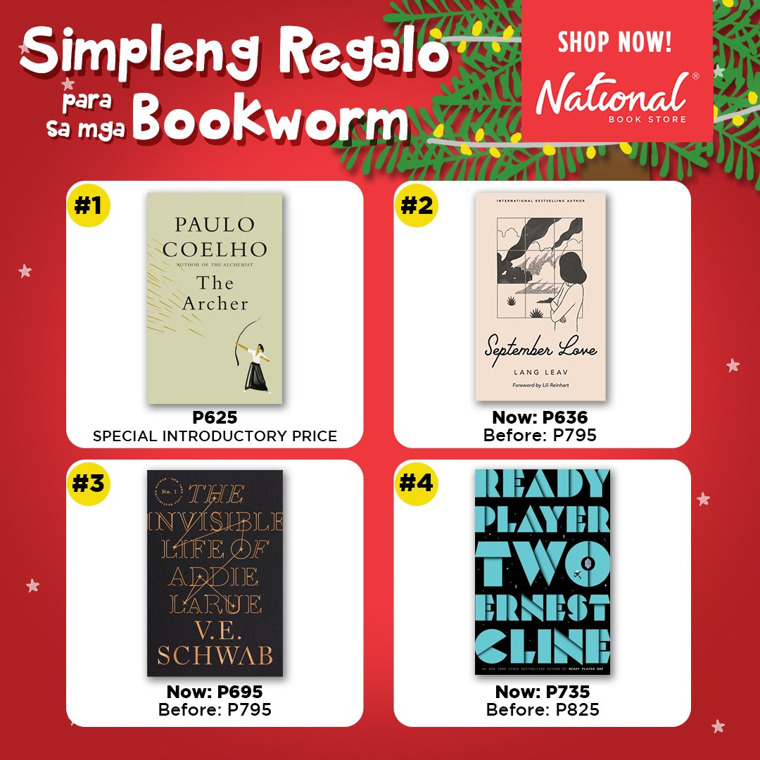 Get great reads for the bookworms you love this Christmas! Shop for these books at selected branches nationwide or online: 🔗 🔗 🔗  #NBSgifts #NBSeveryday