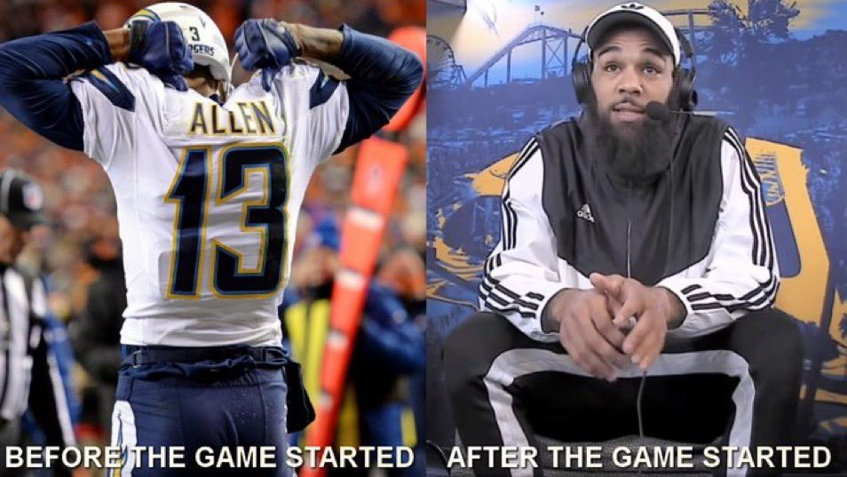 """Keenan Allen telling fantasy owners """"Don't sit me"""" before the game -VS- after the game started... https://t.co/6UO7vd7rwZ"""