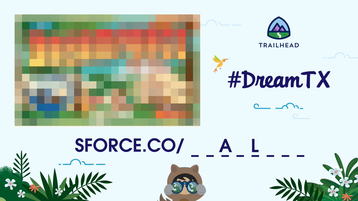 Join us for the #DreamTX scavenger hunt 🔎  2 letters were just revealed!