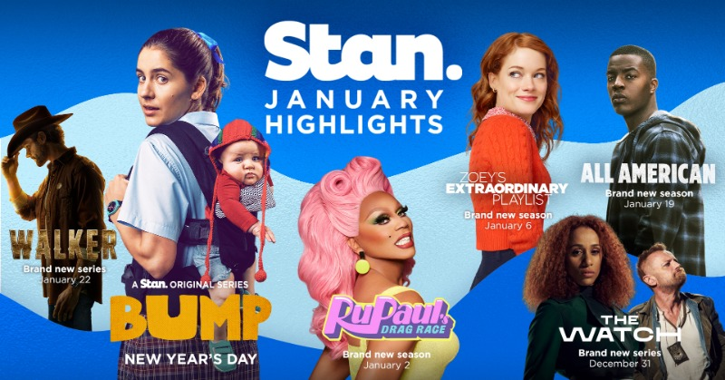 New year, new watch list. Let's start 2021 right with new TV shows and movies every day  - here's just a taste of what's to come in January on Stan.