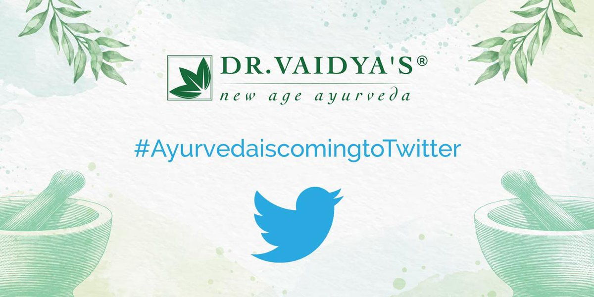 New Age Ayurveda is coming to Twitter.  Stay Tuned!  #DrVaidyas #NewAgeAyurveda #ayurvedaday    #healthylifestyle #Healing #ayurvedalifestyle #fitness   #health #healthcare #FridayThoughts #FridayFeeling   #FridayMotivation