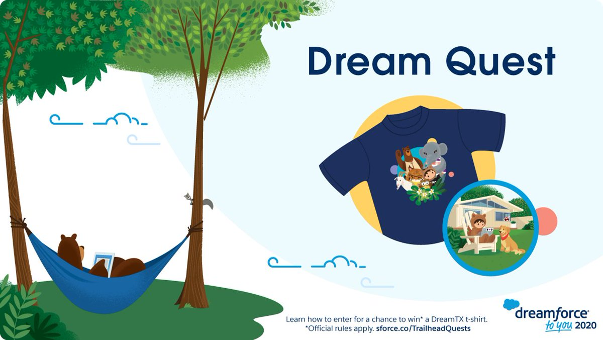 Leave #DreamTX in style! 👕  Continue your learning journey with Quest. Complete the official #DreamTX quest and earn an exclusive community badge and enter for a chance to win a DreamTX T-shirt.  See official rules and learn more at