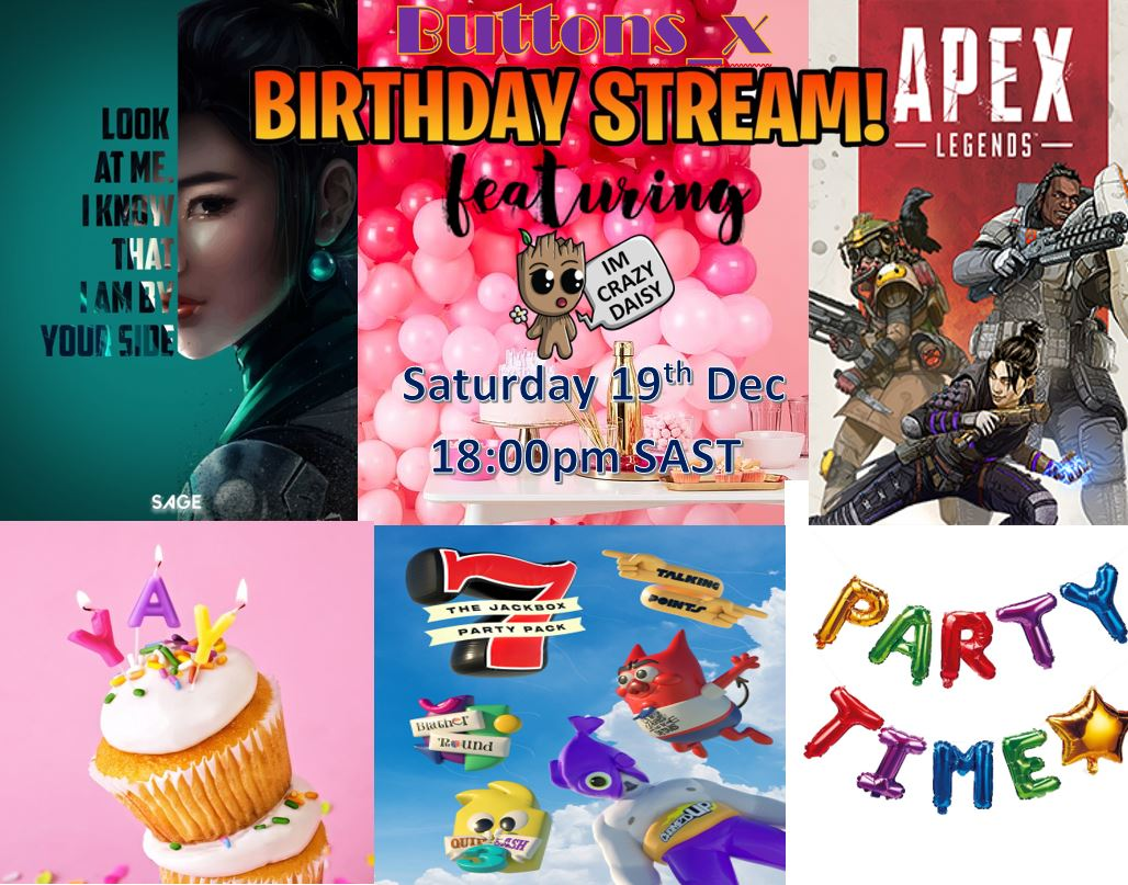 buttons_x - Guys!!!!! Come join me Saturday for the birthday stream!!! Will have my bestie joining me! @imcrazydaisy come say hello!!