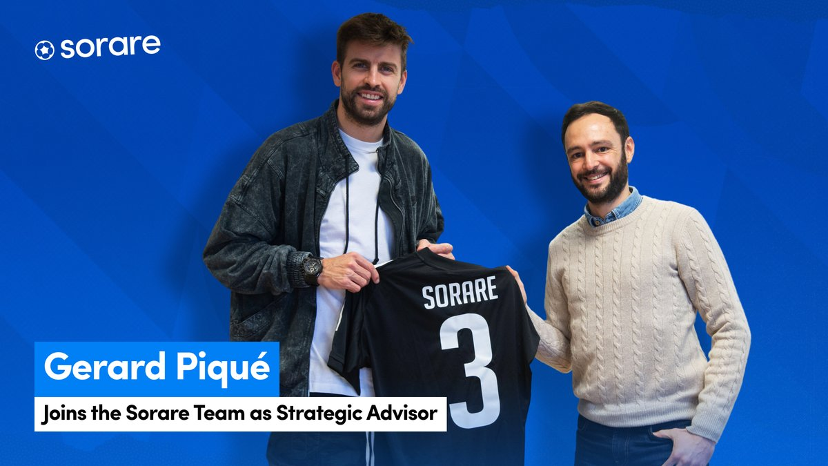 Welcome @3gerardpique to the #Sorare Team!   You already know #Piqué, the legendary defender. But did you know he's also made his mark as an entertainment and new media expert?    Find out how Gerard will help #Sorare fantasy football go more global: