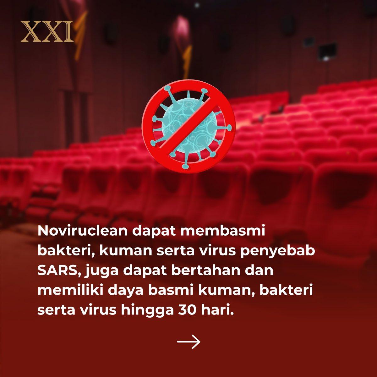 Penyemprotan disinfektan konsisten dilakukan sejak awal tahun 2020, saat bioskop menghentikan kegiatan operasional sementara dan hingga saat ini setelah bioskop diijinkan beroperasi kembali.  #RinduNontondiXXI #ASIKnyakeBioskop