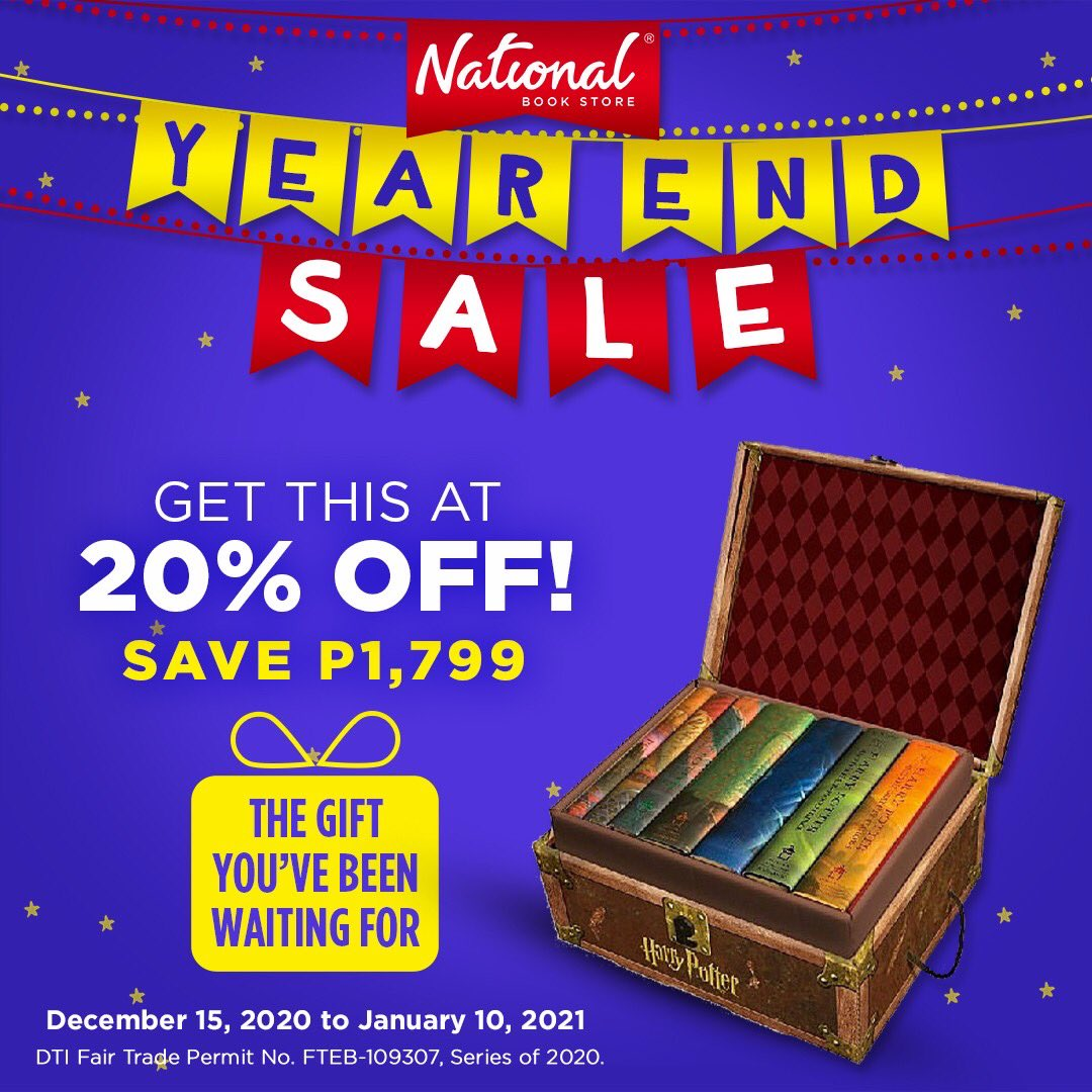 LIMITED STOCKS ONLY: Get 20% OFF the Harry Potter hardcover boxed set during our Year End Sale! SAVE P1,799 on this collectible and giftable find that's perfect for any Potterhead.  Get it in selected branches or online:   #YearEndSale #NBSsale #NBSeveryday